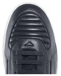HUGO - Blue Leather Futurism_hito_ltmtzp Trainers for Men - Lyst