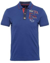 La Martina - Blue Slim Fit Guards Polo Shirt for Men - Lyst