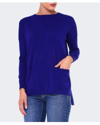 Cocoa Cashmere - Blue Cashmere Pocket Jumper - Lyst