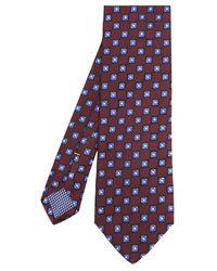 Eton of Sweden - Multicolor Silk Flower Patterned Tie for Men - Lyst