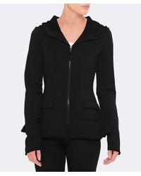 Rundholz - Black Printed Jersey Hood Jacket - Lyst