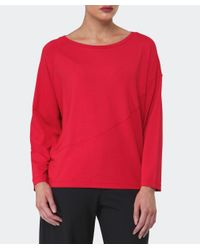 Oska - Red Jersey Liberty Top - Lyst