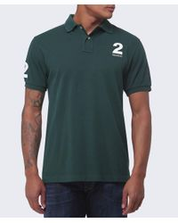 Hackett | Green Tailored Fit Number Polo Shirt for Men | Lyst