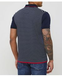 BOSS - Blue Regular Fit Striped Paddy 5 Polo Shirt for Men - Lyst