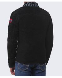 Napapijri - Black Yupik Fleece Jacket for Men - Lyst