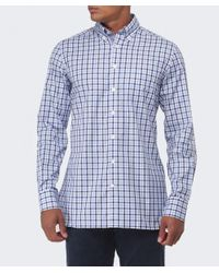 Hackett - Blue Slim Fit Gingham Oxford Shirt for Men - Lyst