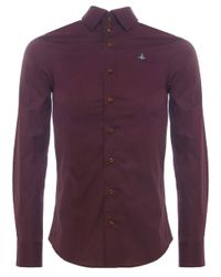Vivienne Westwood - Red Three Button Orb Shirt for Men - Lyst