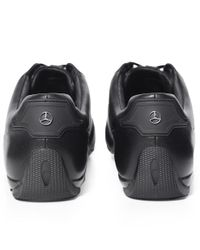 BOSS - Black Leather Mercedes Sporty_lowp Trainers for Men - Lyst