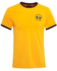 La Martina - Yellow Crew Neck Ero Ringer T-shirt for Men - Lyst
