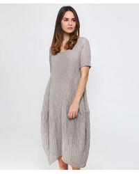 Grizas - Natural Linen Textured T-shirt Dress - Lyst