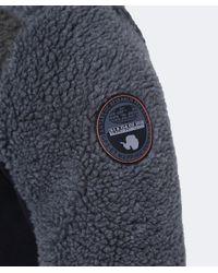 Napapijri - Black Thorne Fleece Jacket for Men - Lyst