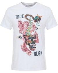True Religion | White Guardian T-shirt for Men | Lyst