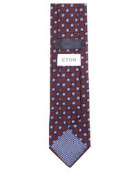 Eton of Sweden - Multicolor Silk Flower Patterned Tie for Men - Lyst