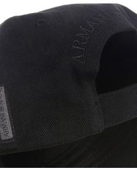 Armani Jeans - Black Logo Cap for Men - Lyst