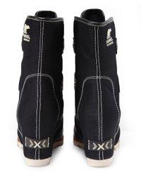 Sorel - Black Joan Of Arctic Wedge Boots - Lyst