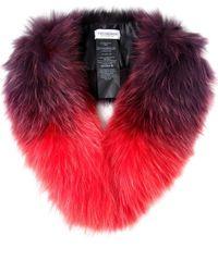 Yves Salomon | Purple Tipped Fur Collar | Lyst