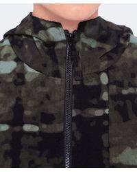 Rundholz - Green Printed Jersey Hood Jacket - Lyst
