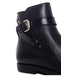 H by Hudson | Black Quartz Ankle Boots | Lyst