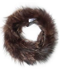 Yves Salomon | Brown Double Loop Fur Scarf | Lyst