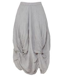 Grizas - Gray Knotted Skirt - Lyst