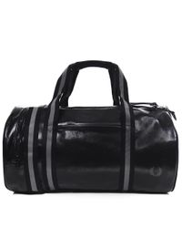 Fred Perry - Classic Barrel Bag In Black for Men - Lyst