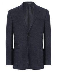 Corneliani Blue Virgin Wool Jacket for men