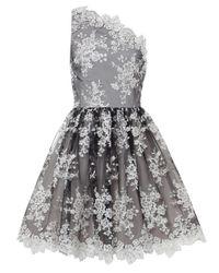 Alice + Olivia   Natural Morganne One Shoulder Dress   Lyst