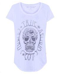 True Religion | Red Embellished Cotton Blend T-shirt | Lyst