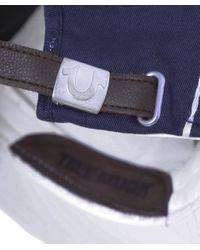 True Religion - Blue Super T Baseball Cap for Men - Lyst