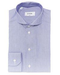 Eton of Sweden   Blue Slim Fit Warwick Satin Shirt for Men   Lyst