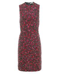 Alice + Olivia | Black Rosalee Embellished Mini Dress | Lyst