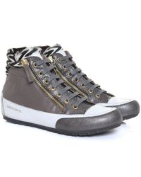 Candice Cooper | Brown Lion Zip High Top Trainers | Lyst