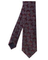 Corneliani | Red Paisley Print Tie for Men | Lyst