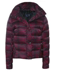Armani Jeans | Multicolor Logo Puffa Jacket | Lyst