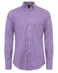 GANT   Pink Regular Fit Gingham Shirt for Men   Lyst