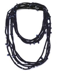 Jianhui   Blue Crystal Five Strand Necklace   Lyst