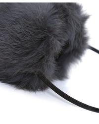 Yves Salomon - Gray Fur Ear Muffs - Lyst