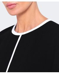 Victoria, Victoria Beckham - Black Pleated Cuff Shift Dress - Lyst