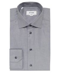 Eton of Sweden | Gray Slim Fit Signature Twill Shirt for Men | Lyst