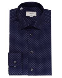 Eton of Sweden - Blue Slim Fit Polka Dot Shirt for Men - Lyst