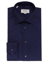 Eton of Sweden | Blue Slim Fit Polka Dot Shirt for Men | Lyst