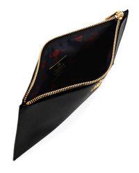 Vivienne Westwood - Black Saffiano Effect Leather Pouch - Lyst