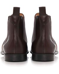 PS by Paul Smith - Brown Leather Falconer Chelsea Boots for Men - Lyst