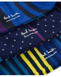 Paul Smith - Blue Three Pack Of Patterned Socks for Men - Lyst