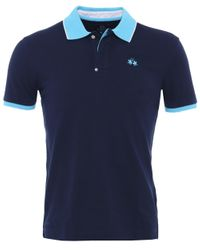 La Martina | Blue Slim Fit Camron Polo Shirt for Men | Lyst