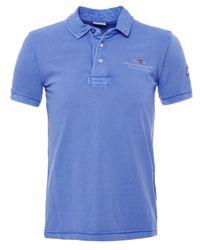 Napapijri | Blue Pique Elbas Polo Shirt for Men | Lyst