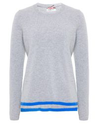 Cocoa Cashmere | Gray Cashmere Star Elbow Jumper | Lyst