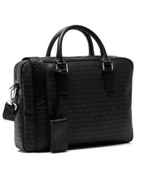 Armani Jeans - Black Logo Briefcase for Men - Lyst