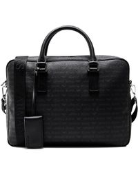 Armani Jeans | Black Logo Briefcase for Men | Lyst