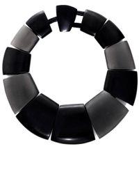 Monies - Black Oversized Ebony Stone Necklace - Lyst